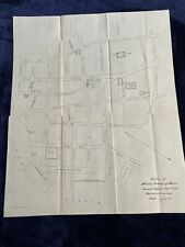 Antique Map of Downtown Honolulu Hi 1900 15 by 18