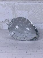 Strawberry Art Glass Clear Paperweight