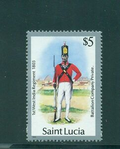 St Lucia 1985 Private Battalion Company 1st West India 1803 SG 810 MNH