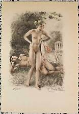 Paul-Émile Bécat Erotic Nudes Drypoint Print Hand signed Numbered Limited Ed #1