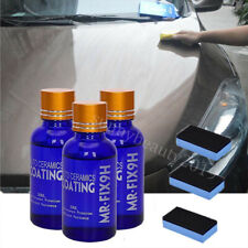 3x 9H Nano Ceramic Car Glass Coating Liquid Hydrophobic Anti-Scratch Auto Care