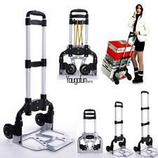 Folding Hand Cart Alluminum Hand Truck Dolly with Material Tighten Rubber HYFG