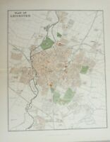 Vintage map of the City of Leicester
