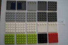 Genuine BULK Lego - 20 4X4 SQUARE BASE PLATES # 6179 HOUSE / CASTLE (E28)