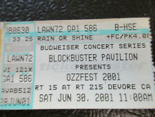 Ozzfest 2001 ticket stub Blockbuster Pavilion