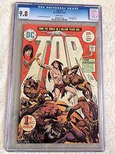 Joe Kubert's Tor #1 DC Comics May 1975 CGC 9.8 WHITE pgs & 7 bonus TOR books