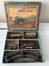"""More details for (0) hornby o gauge """"no 0"""" tank passenger set lms clockwork train set"""