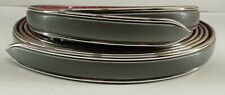 "Nos Vintage 1 1/8"" Grey Chrome Side Body Gray Trim Molding Formed Pointed Ends"