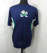 PRO EDGE NOTRE DAME Fighting Irish Men Large Shirt Dri Fit 100% Polyester Blue