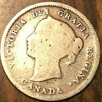 1899 CANADA SILVER 5 CENTS COIN