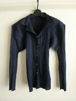 issey miyake pleats please top shirts made in japan F/S excellent navy size 3