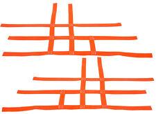 Suzuki LTR 450 LTR450   Nerf Bar Nets  Pair   Fits Alba Tusk    Orange  F