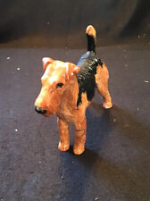"""Royal Doulton Dog Figurine Airedale Terrier Hn 1024 small size 4"""" x 5"""" Mint"""