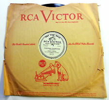 "MINDY CARSON 78 rpm 10"" Christmas Chopsticks RCA VICTOR promo XMAS pop VG++ w320"