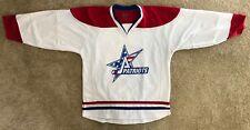 Men's Hockey Jersey - White w/Red/Blue #30 - Assabet Valley Patriots Game Jersey