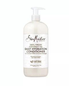 Shea Moisture 100% Vigin Coconut Oil Daily Hydration Conditioner, 34oz New
