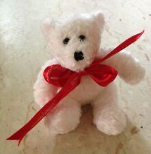Vintage Neiman Marcus Year 2000 Plush White Teddy Polar Bear with Red Bow