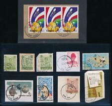 THAILAND SIAM MAE RIM MAE YEN MAE HONG MAE WANG MAE WA MAE TAENG PMKS 12 stamps