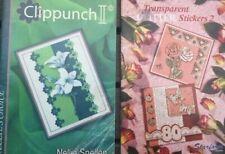 2 Books - Clippunch II and Transparent Glitter Stickers