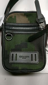 Coach Mens Dark Green Pixelated Camo Terrain Crossbody Bag F72927
