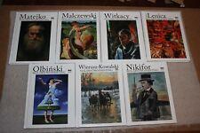 Kolekcja 7 albumów Polskich Malarzy - Collection of Polish painters' 7 albums