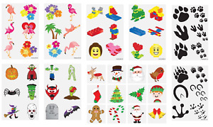 Temporary Tattoo Sheets Fun Children's Birthday Party Loot Bag Novelty Fillers