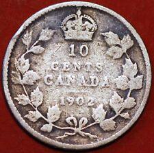 10 Cents 1902 Edward VII silver V Canada KM#10