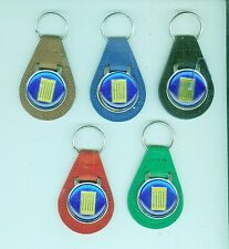 Vintage 1970's/80's Fiat automobile suede key chain (Pick One!)