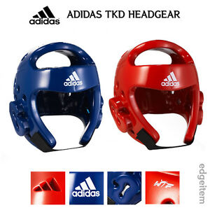 Adidas Taekwondo Headgear Red / Blue Head Gear WTF Approved Guard