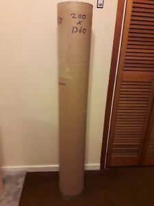 STRONG HEAVY DUTY CARDBOARD TUBE WITH END LIDS. 1360MM X 200MM.