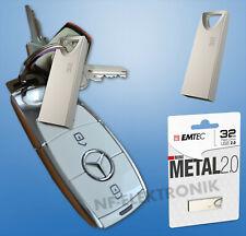 32GB Mini USB-Stick aus Metall Emtec C800 Speicherstick, 32 GB, Silber 2.0