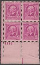 Scott # 861 - Us Plate Block Of 4 - Ralph Waldo Emerson - Mnh - 1940