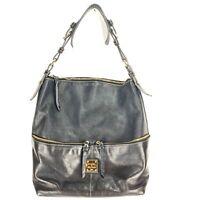 Dooney & Bourke Dillen Black Pebbled Leather Large Pocket Shoulder Bag Tote