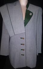H. MOSER Mode Aus Salzburg Womens 2 Piece Pants Suit Blazer Jacket Size 10 Gray