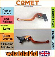 Yamaha FZ-1 2006-2014 [Pliable Long Orange] [ Comet Réglable Course Levier]