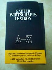Gabler Wirtschafts Lexikon A-Z ungekürzte Taschenbuchausgabe in 6 Bänden