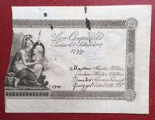 Italie - Sardaigne - Rare billet de 50 Lire - Torino 1 septembre 1799