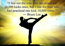 BRUCE LEE INSPIRATIONALMOTIVATIONAL QUOTE POSTERA4 260GSM PRINT PICTURE