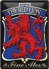 Blechpostkarte The red Lion Finest Ales 10 x 14 cm Blechschild
