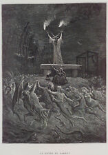 Dance of the Sabbath 1870 Witches Devil Satan Witchcraft 7x5 Inch Print