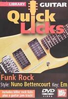 Quick Licks Nuno Bettencourt Funk Rock Key:Em LICK LIBRARY Guitar DVD