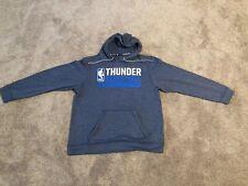 Nba Oklahoma City Thunder Men's Adidas Sweatshirt Hoodie - Gray - Large - Euc