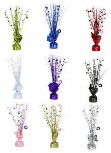 6 x Star Spray Table Centrepiece   Balloon Weight Decorations Choose Colour