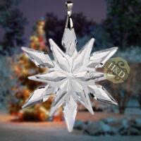 Clear Crystal Snowflake Ornament Prism Pendant Wedding Gift Decor Suncatcher