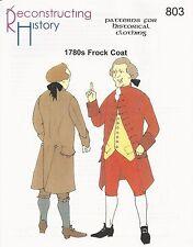 Schnittmuster Reconstructing History RH 803 Paper Pattern 1780s Frock Coat