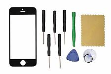 Replacement Front outer Screen Glass Lens for Apple iPhone 5 5S 5C Black + Tools