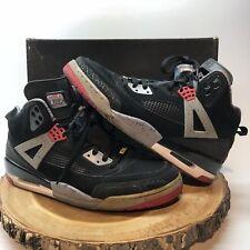 Nike Air Jordan Spizike Black Red Cement Military Blue 315371-062 Sz 12 BRED IV