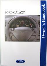 FORD Galaxy - Original Car Owners Handbook - Mar 1996 - # 396 - 3rd Ed.