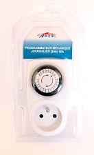 Programmateur Electrique Mécanique Prise  3500W 16A 230V -50HZ Journalier (24h)