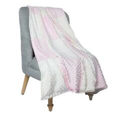 "Boritar Baby Blanket/Crib Quilt with Minky Raised Dotted Super Soft Pink 30""x40"""